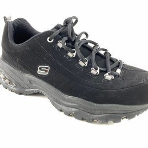 Skechers Womens Sport Premium Black Leather Athlet